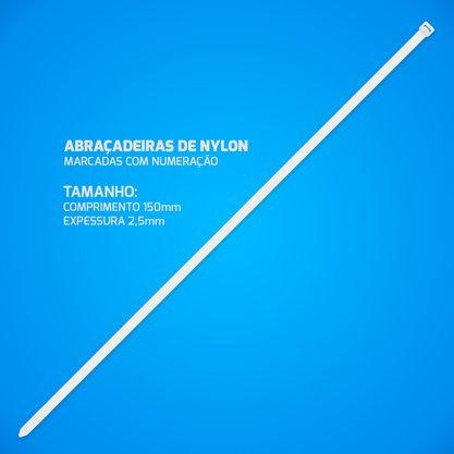 Abracadeira de Nylon 2,5mm 150mm (pacote com 100 unidades)