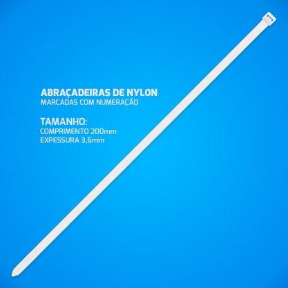 Abraçadeira de Nylon 3,6mm 200mm - Translúcido (Pacote com 100 unidades)