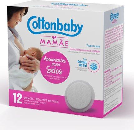 Absorvente para Seios Mamãe Cottonbaby