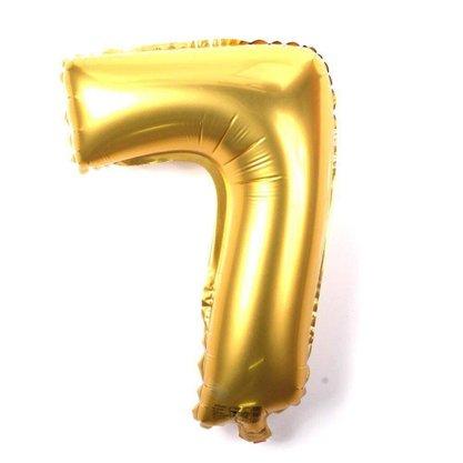 Balão Metalizado Número 7- 40CM