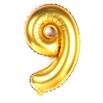 Balão Metalizado Número 9- 40CM