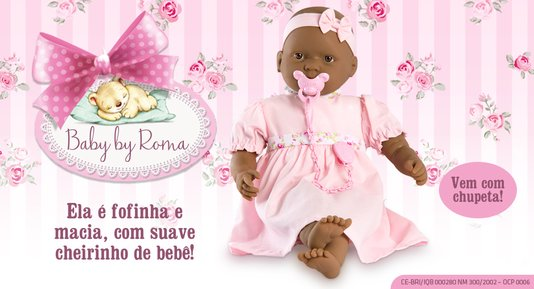 Boneca Baby Negra Vinil