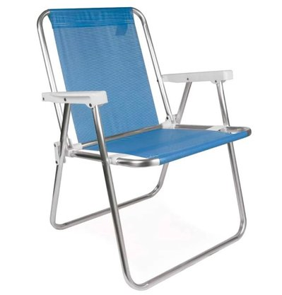 Cadeira Alta Alumínio Sannet Azul