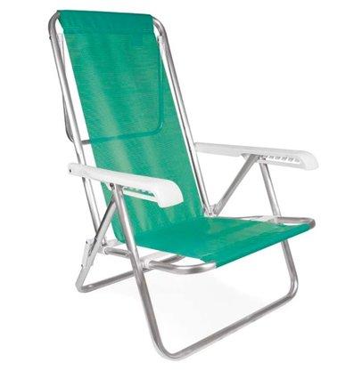 Cadeira Reclinável 8 Posições Alumínio Anis