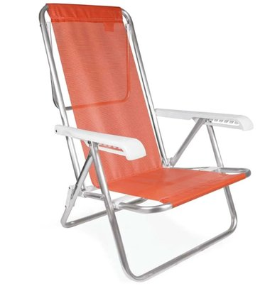 Cadeira Reclinável 8 Posições Alumínio Coral