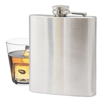 Cantil de Bolso Aço Inox 230 ml