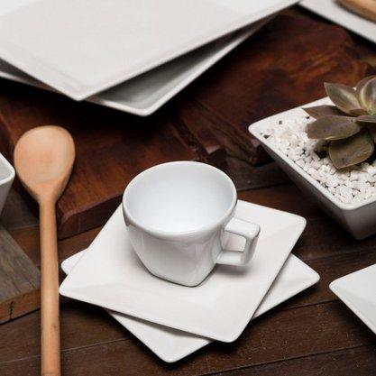 Conjunto de Chá 12 peças Quartier White (Branco)