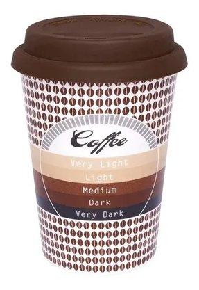 Copo Trip 300ml Café - Copo em Cerâmica e Tampa de Silicone