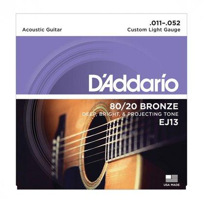 Encordoamento Violao Aço .011 D'Addario (EJ13-B)