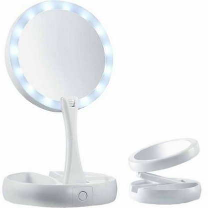 Espelho Com Luminaria Moldura Plastica