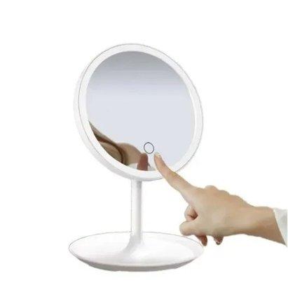 Espelho De Mesa Com Led Moldura Plast 18X18CM