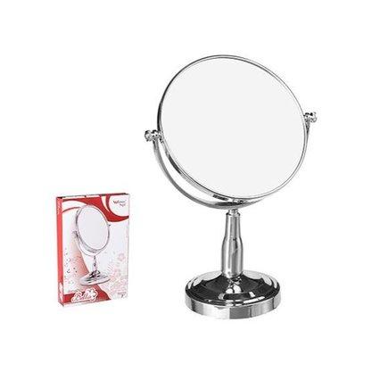 Espelho Redondo Bancada, Duas Faces e 3x de Aumento