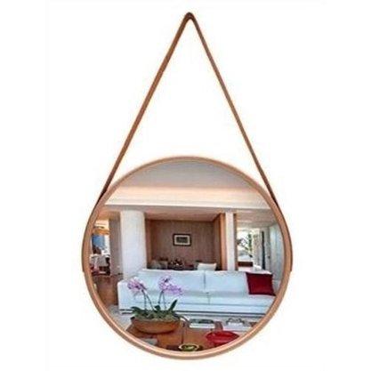 Espelho Redondo com Moldura Plástica - 45cm Diametro