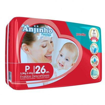 Fralda Anjinho Tamanho P com 26 unidades