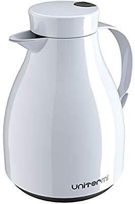 Garrafa Térrmica de Mesa com Gatilho Paris 1 Litro Branca