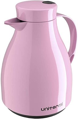 Garrafa termica de mesa com gatilho Paris 1 Litro rosa