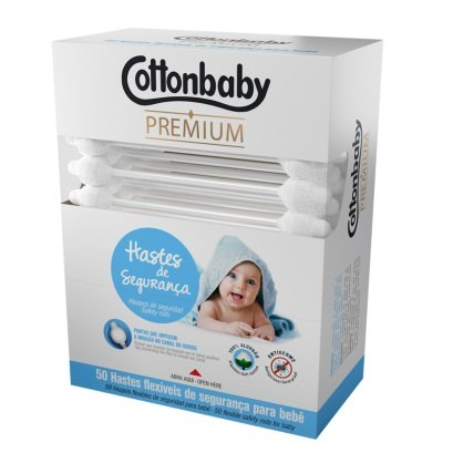 Haste Flexivel de Seguranca Premium com 50 Uni Cottonbaby
