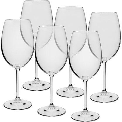 Jogo 6 Taças para Vinho Tinto Gastro Cristal Eco 450 ml
