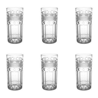 Jogo com 6 copos Alto Clássica Cristal Eco 350 Ml