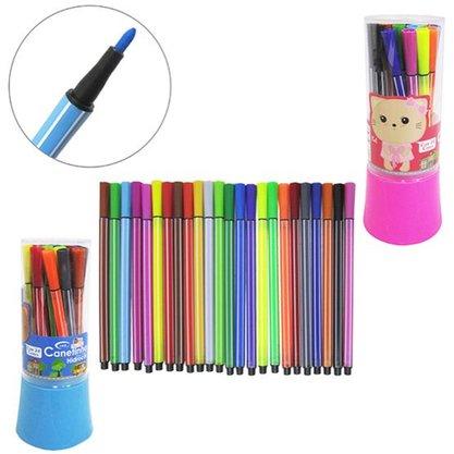Jogo de canetas hidrocor 24 cores