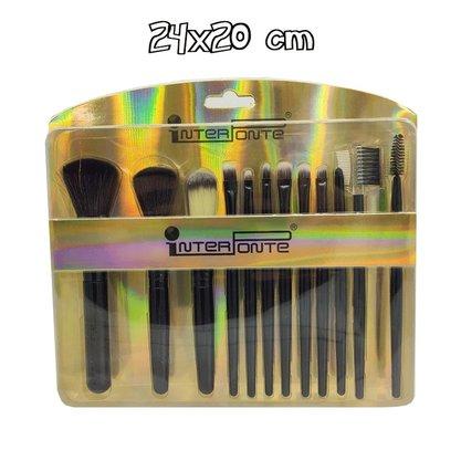 Kit com 12 Pinceis Para Maquiagem