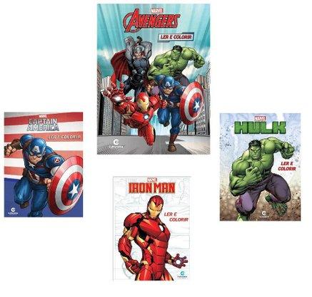 Ler E Colorir Marvel Sortido