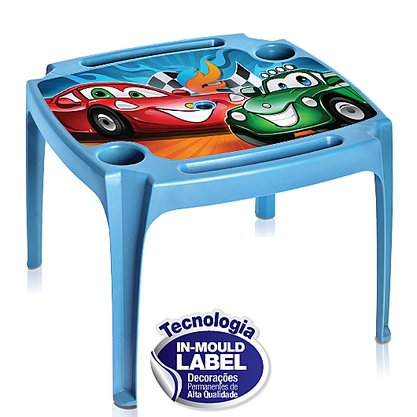 Mesa Infantil Azul Estampada