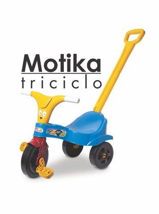 Motoka Azul com Haste