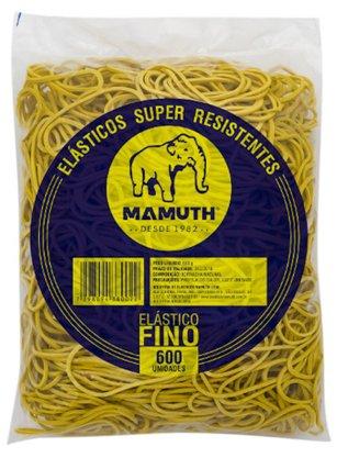 Pacote com 600 Elásticos tipo Amarelo Fino (500g)