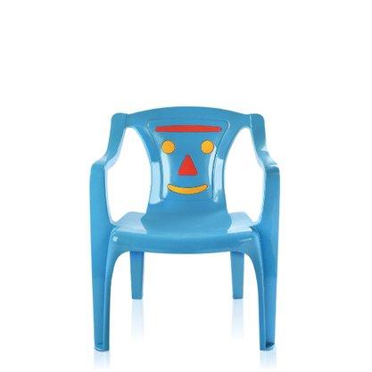 Poltrona Infantil Azul Estampada