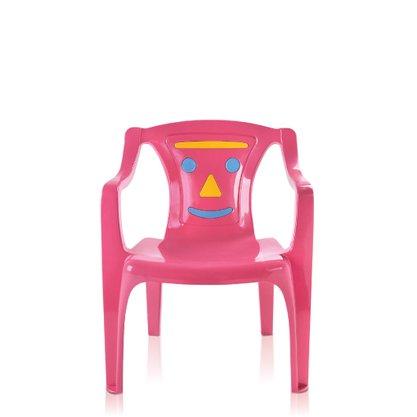 Poltrona Infantil Rosa Estampada