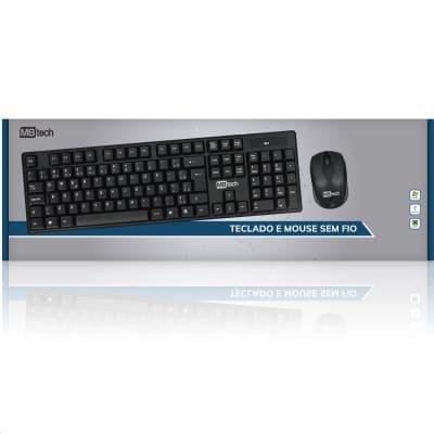 Teclado Para Computador Com Mouse Sem Fio