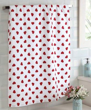Toalha Banho Prisma Estampada 70x140cm Vermelho Dohler