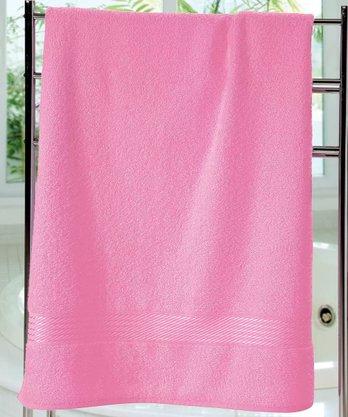 Toalha Banho Prisma Lisa 70x140cm Rosa Dohler