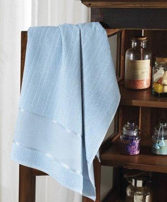 Toalha de Banho Felpuda Firenze III Para Bordar 70cm x 140cm Azul