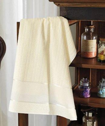 Toalha de Banho Felpuda Firenze III Para Bordar 70cm x 140cm Marfim