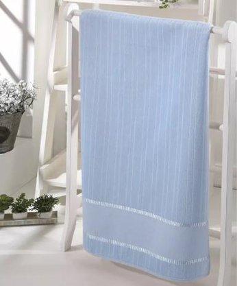 Toalha de Rosto Velour Bella Liso P/ Bordar 50x80cm Azul
