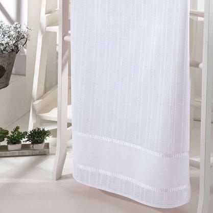 Toalha de Rosto Velour Bella Liso Para Bordar 50cm x 80cm Branco