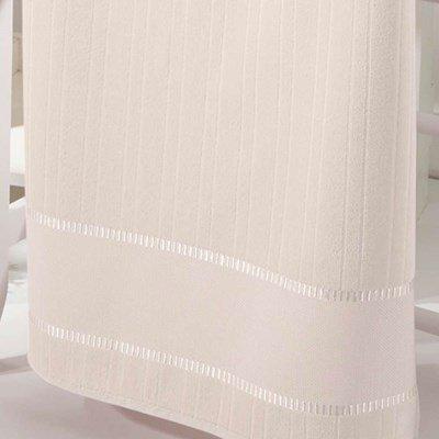 Toalha de Rosto Velour Bella Liso P/ Bordar 50x80cm Marfim