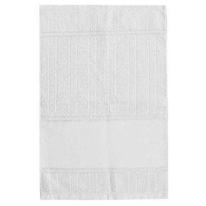 Toalha Lavabo Multi Arte III Para Bordar 30cm X 45cm Branco