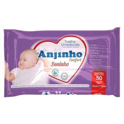 Toalha Umedecida Soninho Anjinho com 50 unidades